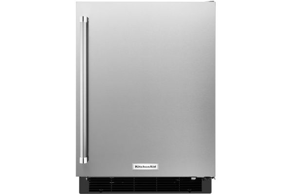 "Large image of KitchenAid 24"" Stainless Steel Undercounter Refrigerator - KURR104ESB"