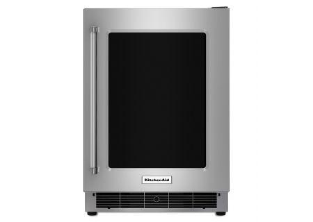 """KitchenAid 24"""" Stainless Steel Undercounter Refrigerator - KURR304ESS"""