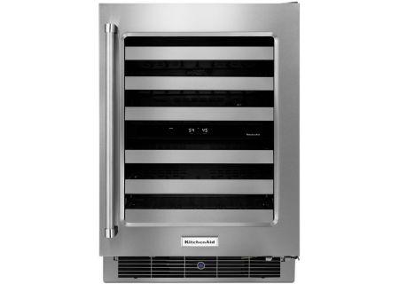 """KitchenAid 24"""" Stainless Steel Wine Cellar - KUWR304ESS"""