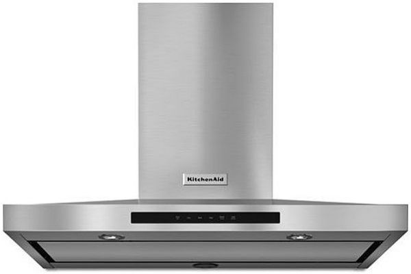 """Large image of KitchenAid 36"""" Stainless Steel Wall-Mount Canopy Hood - KVWB606DSS"""