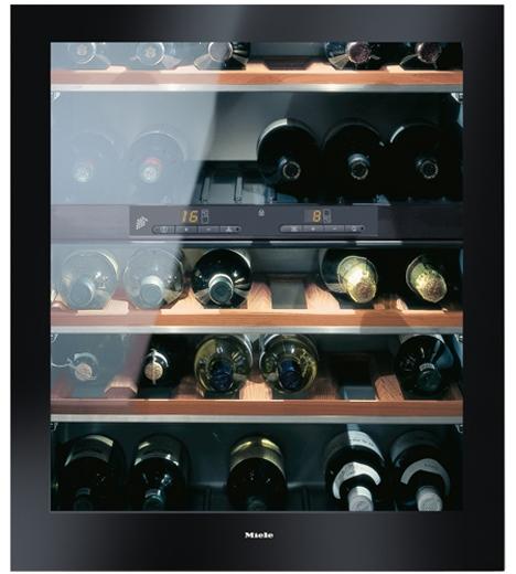 miele 24 black under counter wine storage kwt4154ug1. Black Bedroom Furniture Sets. Home Design Ideas