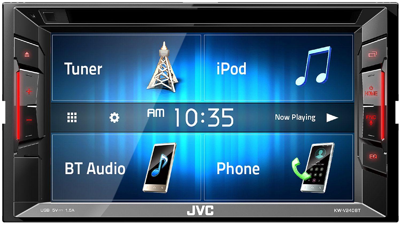 JVC Double DIN AV Bluetooth Receiver - KW-V240BT