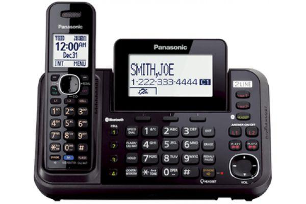 Panasonic 2-Line Bluetooth Cellular Convergence Solution With 1 Base - KX-TG9541B