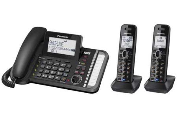 Large image of Panasonic 2 Plus 1 -Line Bluetooth Corded/Cordless Phone System - KX-TG9582B