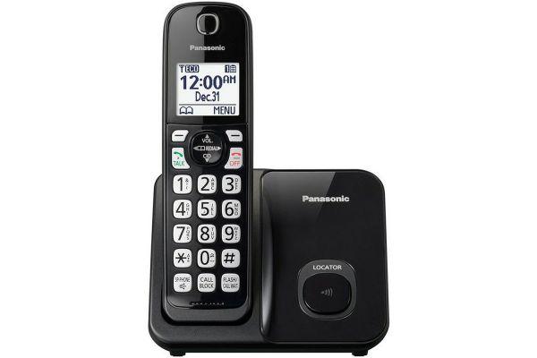 Large image of Panasonic Black Expandable Cordless Phone With 1 Handset - KX-TGD510B
