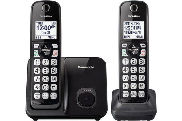 Panasonic Black Expandable Cordless Phone With 2 Handsets - KX-TGD512B