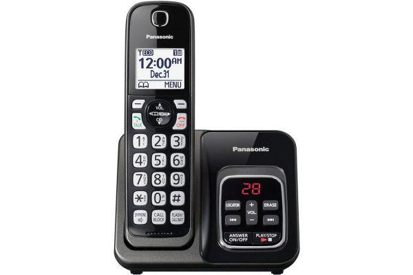 Panasonic Metallic Black Expandable Cordless Phone With Answering Machine - KX-TGD530M