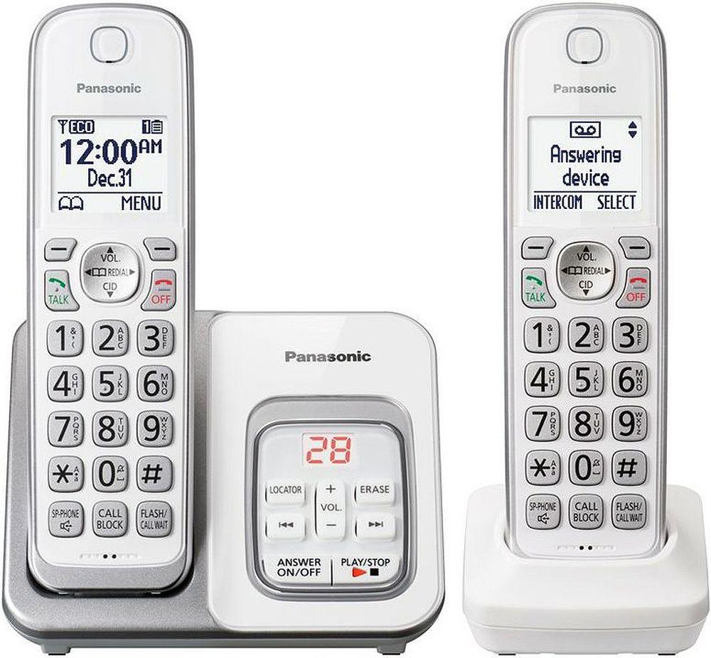 Panasonic White Expandable Cordless Phone - KX-TGD532W