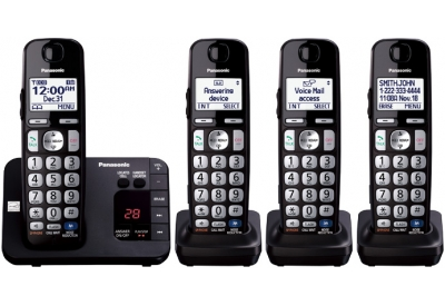 Panasonic - KX-TGE234B - Cordless Phones