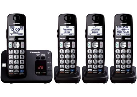 Panasonic - KX-TGE234B - Cordless Phones