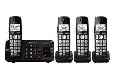 Panasonic - KX-TGE244B - Cordless Phones