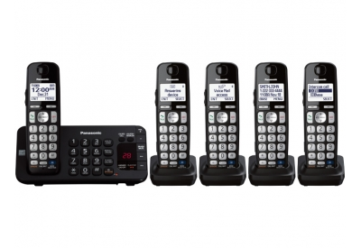 Panasonic - KX-TGE245B - Cordless Phones