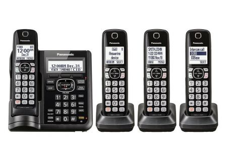 Panasonic Black Cordless Phone With 4 Handsets - KX-TGF544B