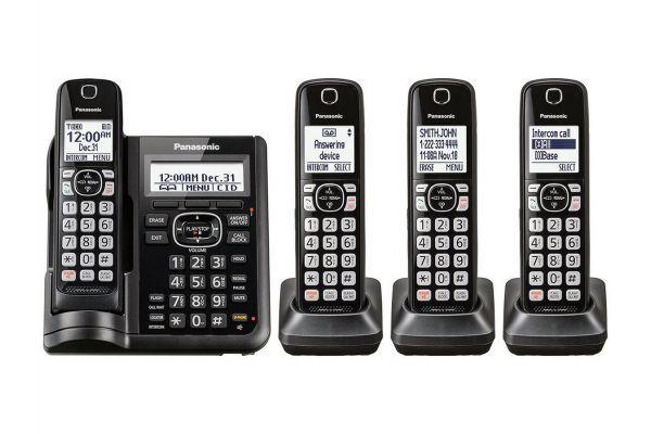 Panasonic Black Cordless Phone With 4 Handsets - KX-TGF544B
