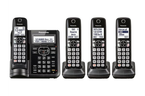 Large image of Panasonic Black Cordless Phone With 4 Handsets - KX-TGF544B