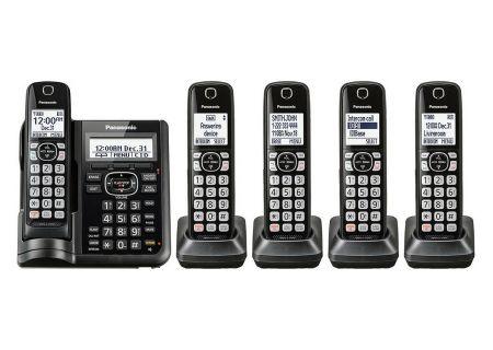 Panasonic Black Cordless Phone With 5 Handsets - KX-TGF545B