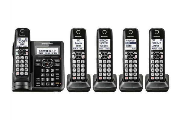 Large image of Panasonic Black Cordless Phone With 5 Handsets - KX-TGF545B