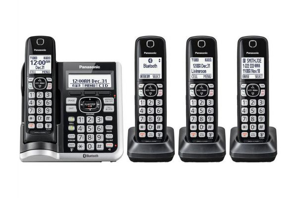 Large image of Panasonic Black Link2Cell Bluetooth Cordless Phone With 4 Handsets - KX-TGF574S
