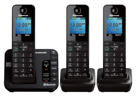 Panasonic - KX-TGH263B - Cordless Phones