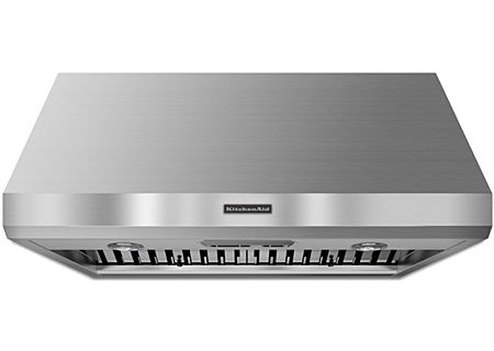 "KitchenAid 36"" Commercial-Style Series Stainless Steel Wall-Mount Canopy Hood - KXW8736YSS"