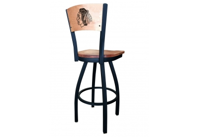 Holland Bar Stool Co. - L03825BWMEDMPLACHIHWKBLKVINYL - Bar Stools & Counter Stools