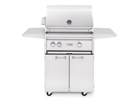 """Lynx Professional 27"""" Stainless Freestanding Natural Gas Grill with Trident Burner and Rotisserie - L27TRFNG"""