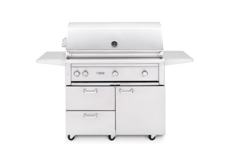 """Lynx Professional 42"""" Natural Gas Freestanding Grill With Trident Burner And Rotisserie - L42TRFNG"""