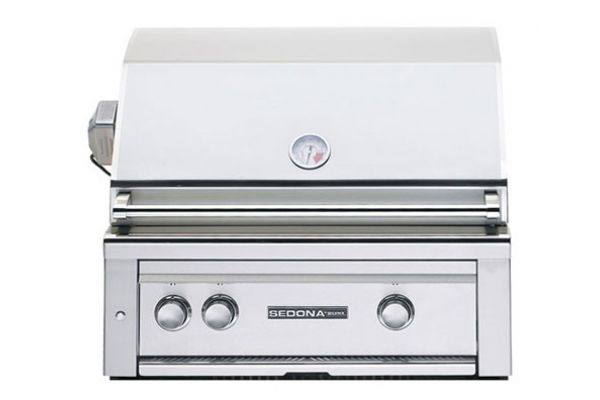 """Large image of Lynx Sedona Built-In 30"""" Stainless Steel  ProSear & Rotisserie Natural Gas Grill - L500PSRNG"""
