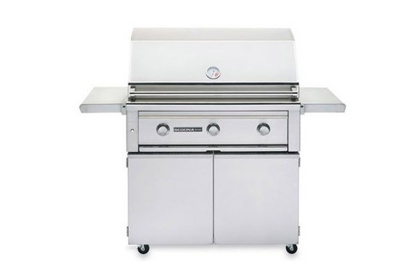 """Large image of Lynx Sedona 36"""" Stainless Steel Freestanding Natural Gas Grill - L600F-NG"""