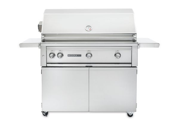 """Large image of Lynx Sedona 36"""" Stainless Steel Freestanding Liquid Propane Grill With Rotisserie - L600FR-LP"""