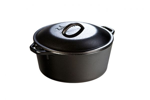 Large image of Lodge 5 Quart Cast Iron Dutch Oven - L8DOL3