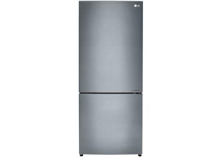 LG Platinum Silver Bottom Freezer Refrigerator - LBNC15221V