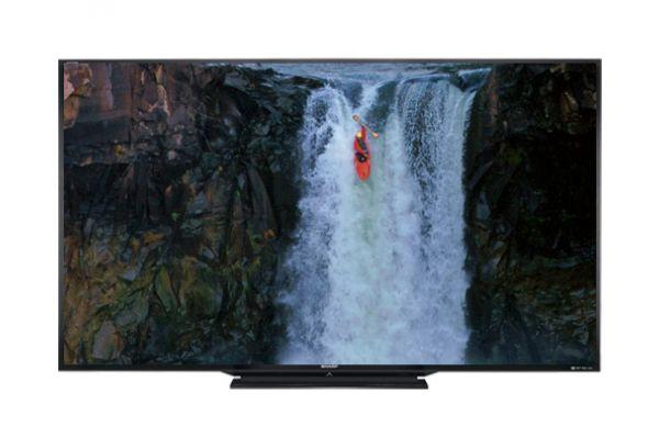 "Sharp AQUOS 90"" LE745 Series 3D LED Black Flat Panel HDTV - LC-90LE745U"