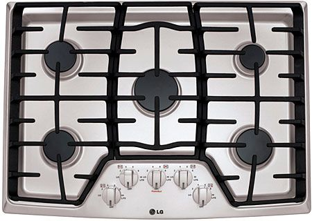 Lg 30 Stainless Steel Gas Cooktop Lcg3011st Abt