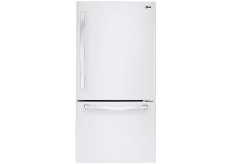 LG White Bottom Freezer Refrigerator - LDCS24223W