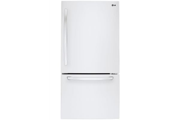LG White Bottom Freezer Refrigerator - LDCS24223W