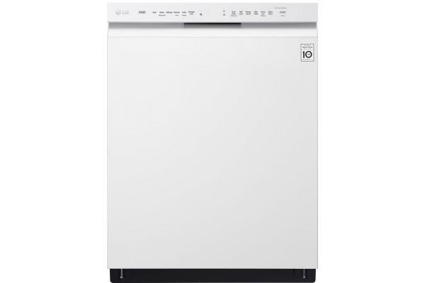 "LG 24"" White Built-In Dishwasher With QuadWash - LDF5545WW"