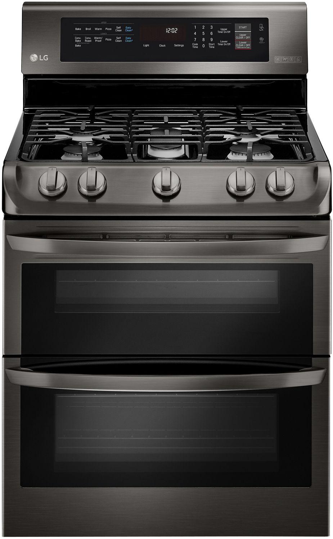 Lg Black Stainless Double Gas Range Ldg4315bd