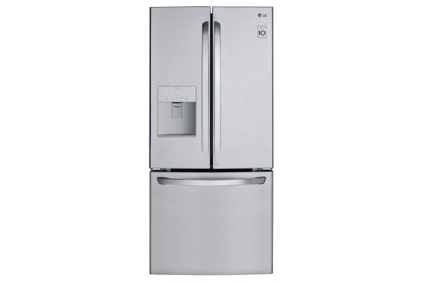 LG 22 Cu. Ft. Stainless Steel French Door Refrigerator - LFDS22520S