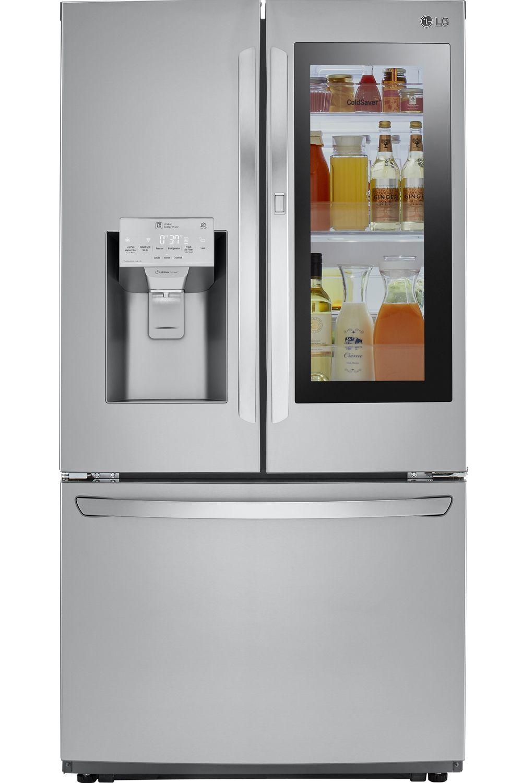 Lg Printproof Stainless Steel Instaview Door In Counter Depth French Refrigerator