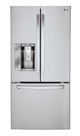 Lg 24 2 Cuft French Door Freezer Refrigerator Lfxs24623s