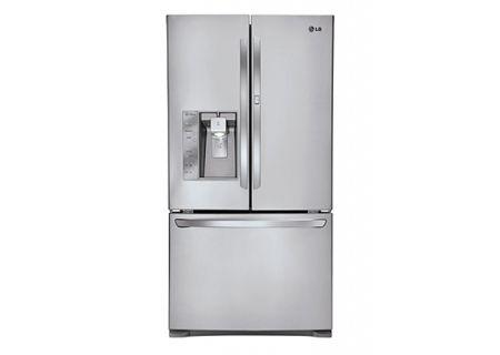 LG Ultra-Capacity Stainless Steel 3-Door French Door Bottom Freezer Refrigerator - LFXS29766S