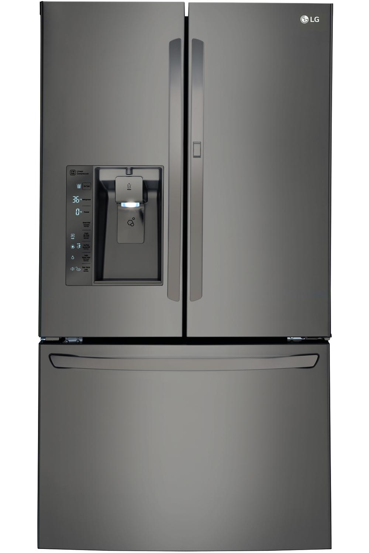 LG Black Diamond Bottom Freezer Refrigerator LFXS30766D