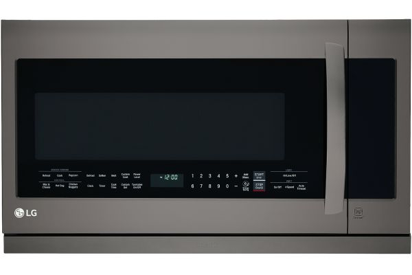 Large image of LG 2.2 Cu. Ft. Black Stainless Steel Over-The-Range Microwave Oven With EasyClean - LMHM2237BD