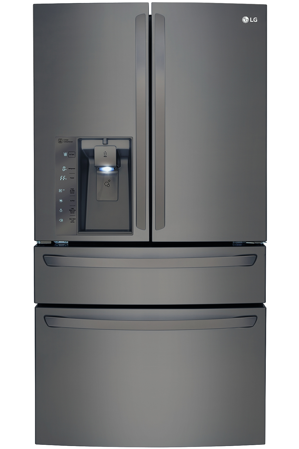lg black diamond french door refrigerator lmxc23746d. Black Bedroom Furniture Sets. Home Design Ideas