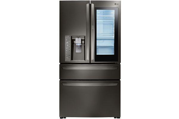 LG Black Stainless Steel InstaView Door-In-Door Counter-Depth Refrigerator - LMXC23796D