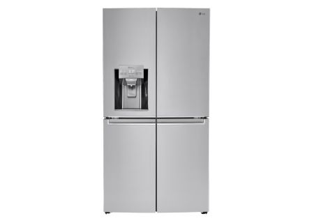 LG 23 Cu. Ft. Stainless Steel 4-Door French Door Counter-Depth Refrigerator - LNXC23726S