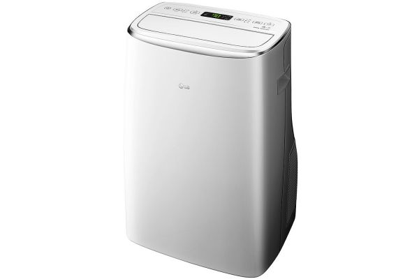 Large image of LG 14,000 BTU 115V White Smart Wi-Fi Portable Air Conditioner - LP1419IVSM
