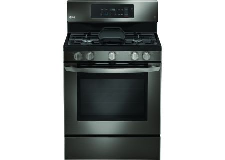 LG Black Stainless Steel Freestanding Gas Range - LRG3193BD
