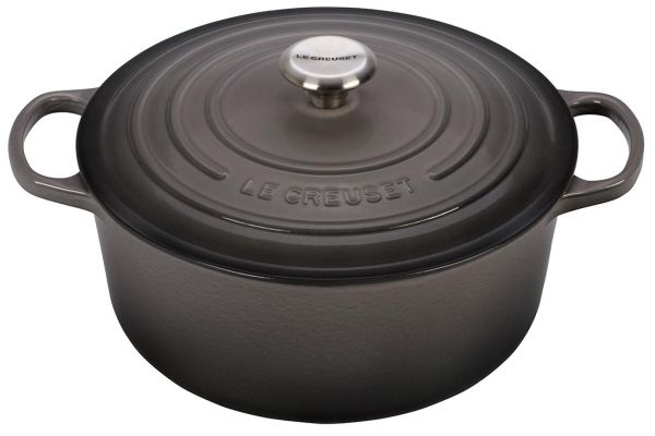 Large image of Le Creuset 5.5 Qt. Oyster Round Dutch Oven - LS2501-267FSS
